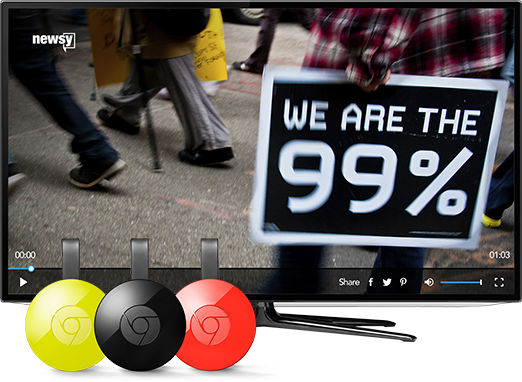 Watch Newsy On Your TV: Chromecast